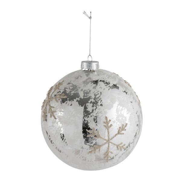 Glob pentru brad J-Line Pearl, ⌀ 15 cm, argintiu