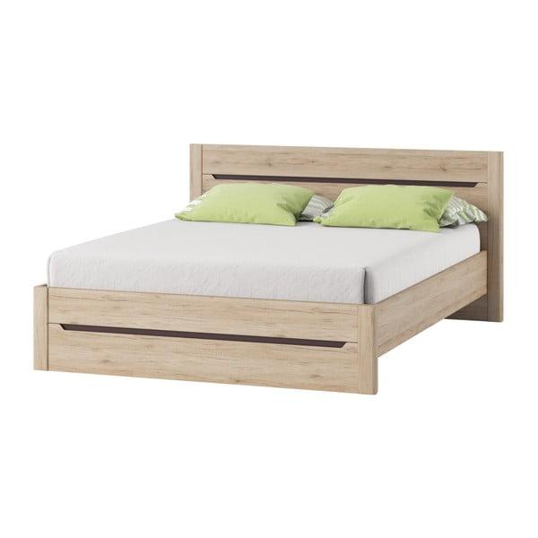 Desjo tölgyfamintás ágy, 160 x 200 cm - Szynaka Meble