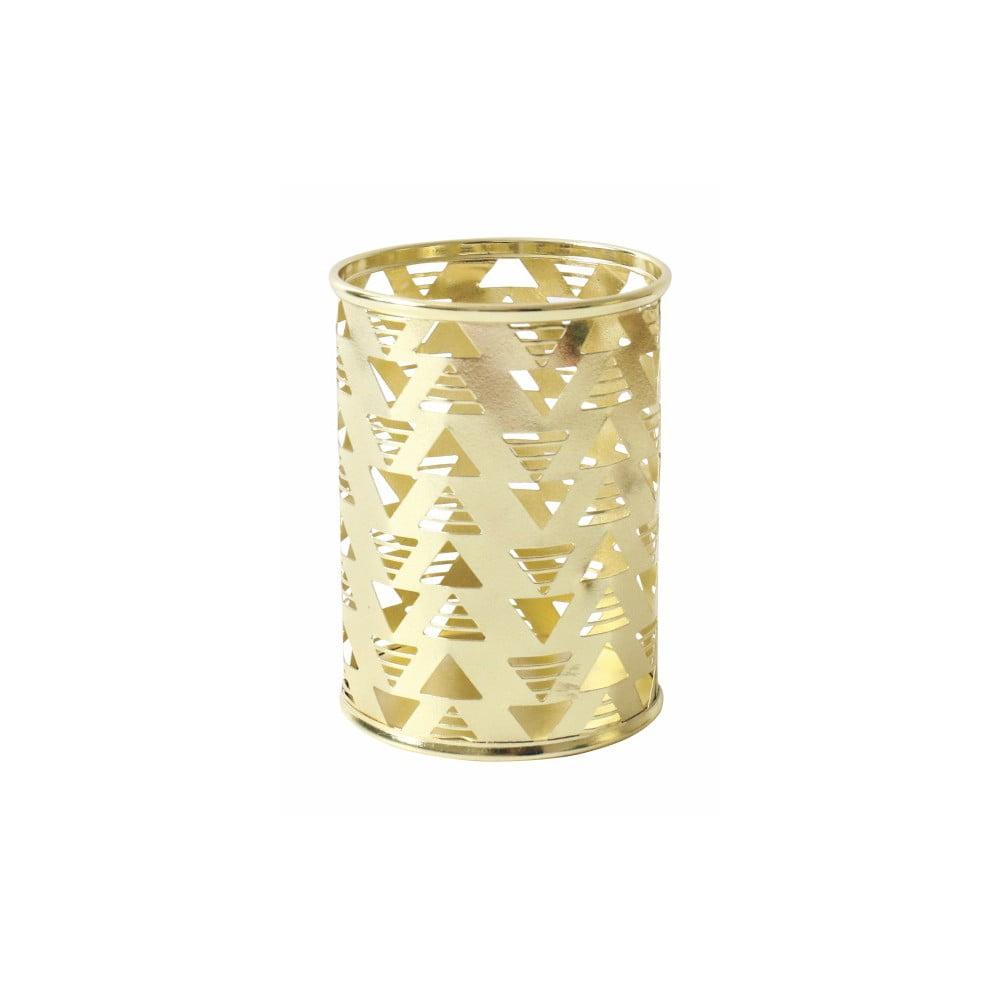 Kovový stojánek na tužky ve zlaté barvě Portico Designs
