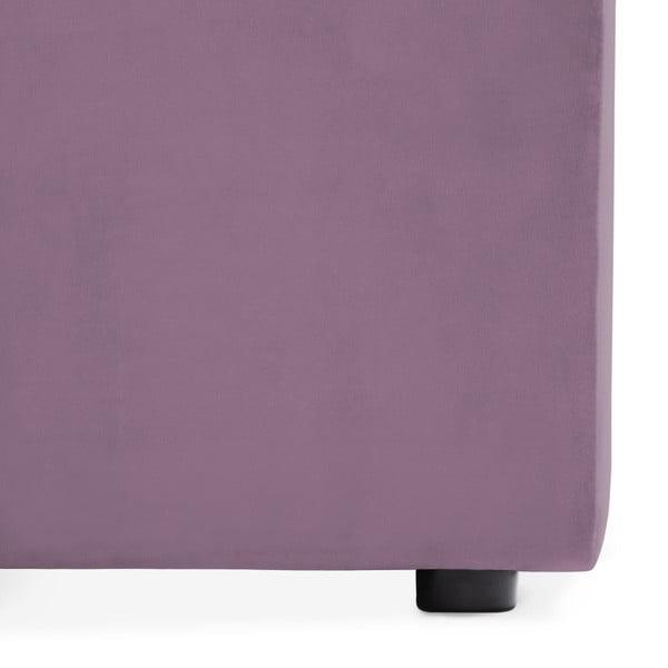 Lila fialová třímístná modulová pohovka s podnožkou Vivonita Velvet Cube