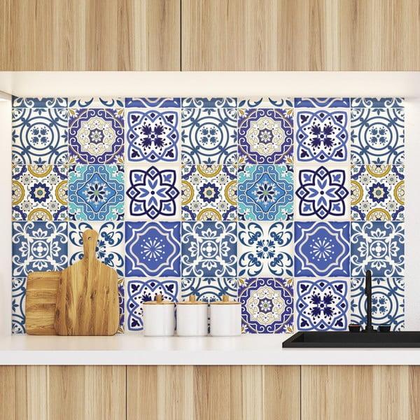 Sada 9 dekorativních samolepek na stěnu Ambiance Calypso, 10 x 10 cm