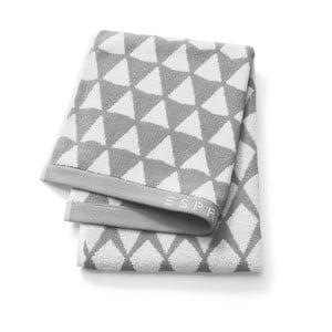 Šedý vzorovaný ručník Esprit Mina, 50x100cm