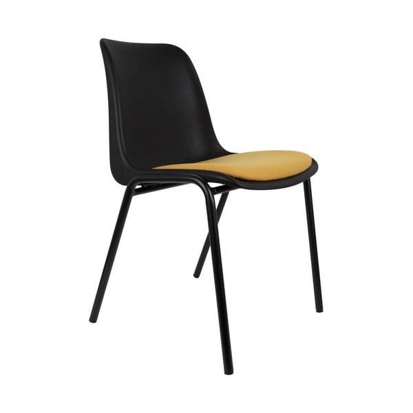 Židle Back to Gym, černá/okrová