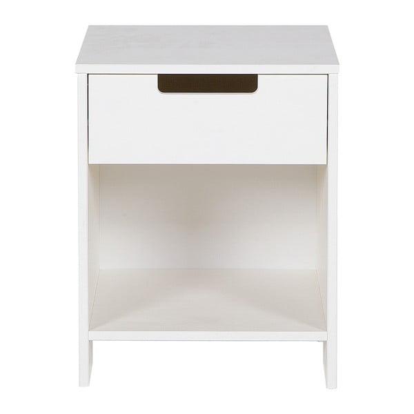 Bílý noční stolek WOOOD Jade