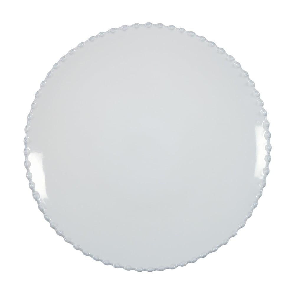 Bílý kameninový talíř Costa Nova Pearl, ⌀28cm