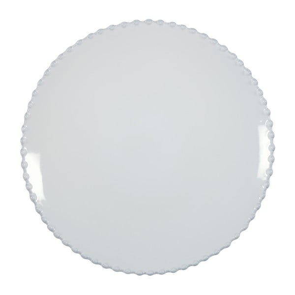 Biely kameninový tanier Costa Nova Pearl, ⌀28cm