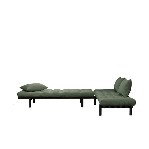 Pohovka se zeleným potahem Karup Design Pace Black/Olive Green