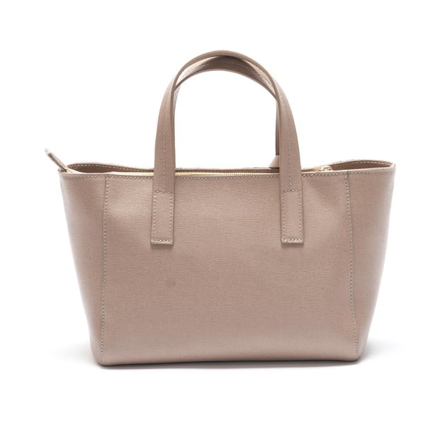 Světle růžová kožená kabelka Mangotti Ricinus