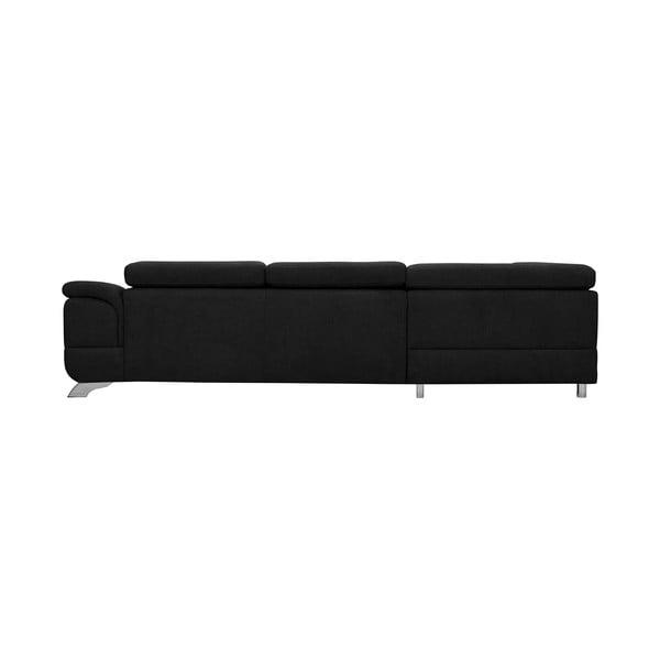 Černá rozkládací rohová pohovka Windsor & Co Sofas Gamma, levý roh