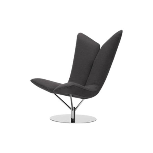 Ciemnoszary fotel Softline Angel Eco Cotton Grey White