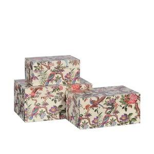 Sada 3 dekorativních krabic Faisan