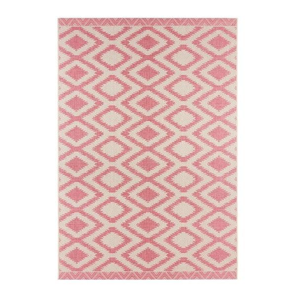 Červeno-krémový vonkajší koberec Bougari Isle, 180 x 280 cm
