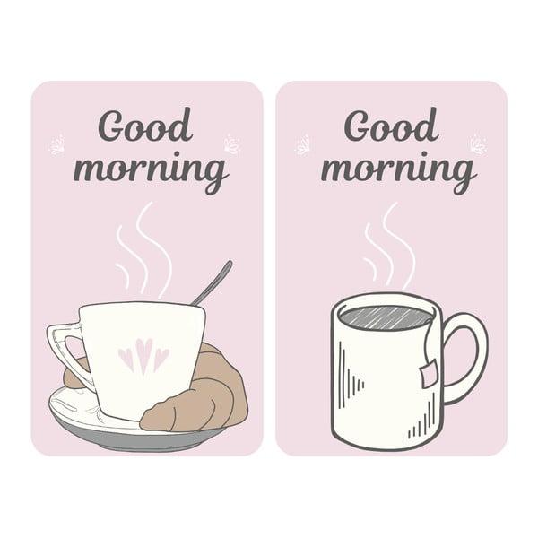 Sada 2 skleněných krytů na sporák Wenko Good Morning