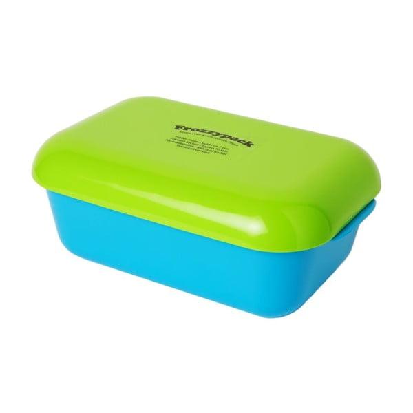 Chladící svačinový box Frozzypack Summer Edition, turquoise/green