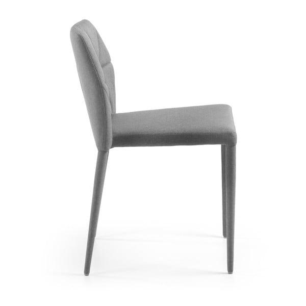 Sada 4 šedých židlí La Forma Gravite