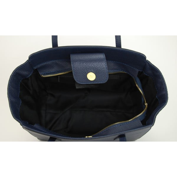 Kožená kabelka Borsa Blu