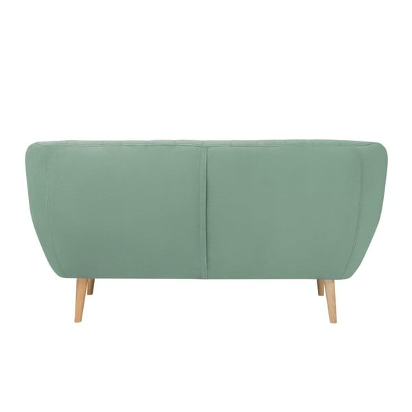 Canapea cu 2 locuri și picioare de culoare deschisă Mazzini Sofas Sardaigne, verde mentă
