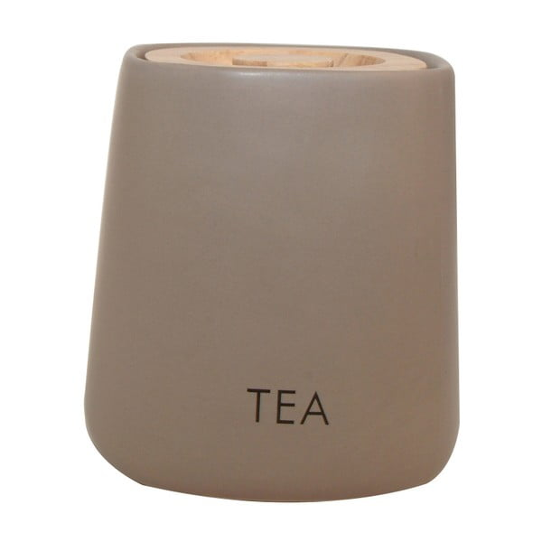 Dóza na čaj Cubic Matt Taupe