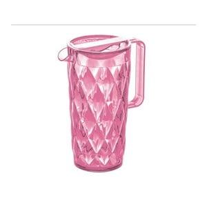 Růžová plastový džbán Tantitoni Crystal, 1,6 l