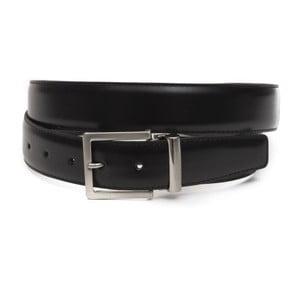 Černý pánský kožený pásek GF Ferre Ervin, délka 135 cm