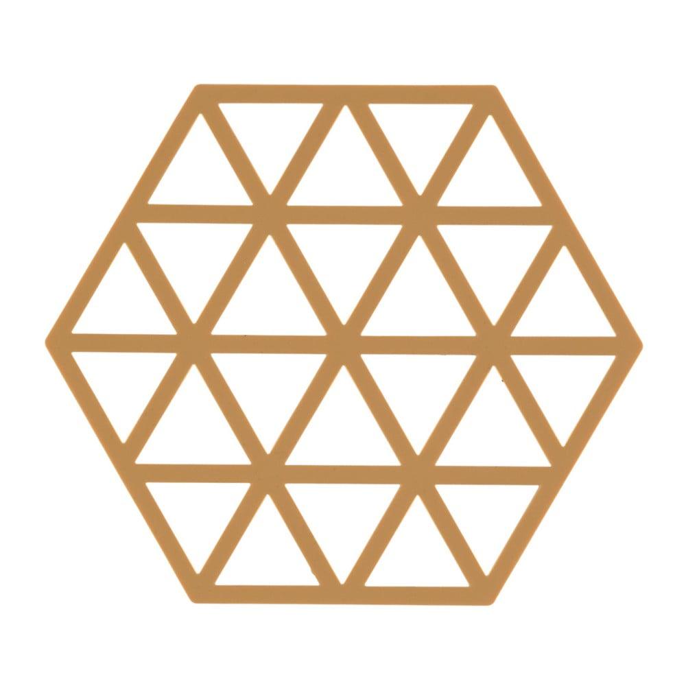 Oranžová silikonová podložka pod horké nádoby Zone Triangles