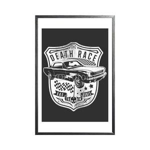 Zarámovaný plakát Car of Death, černý rám
