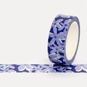 Washi páska U Studio Design Blue Bloom, délka 4 m