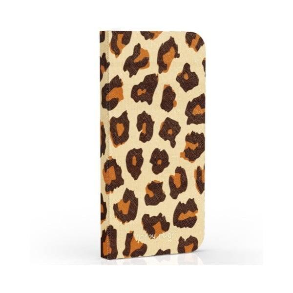 Překlápěcí obal Happy Plugs na iPhone 6 Leopard