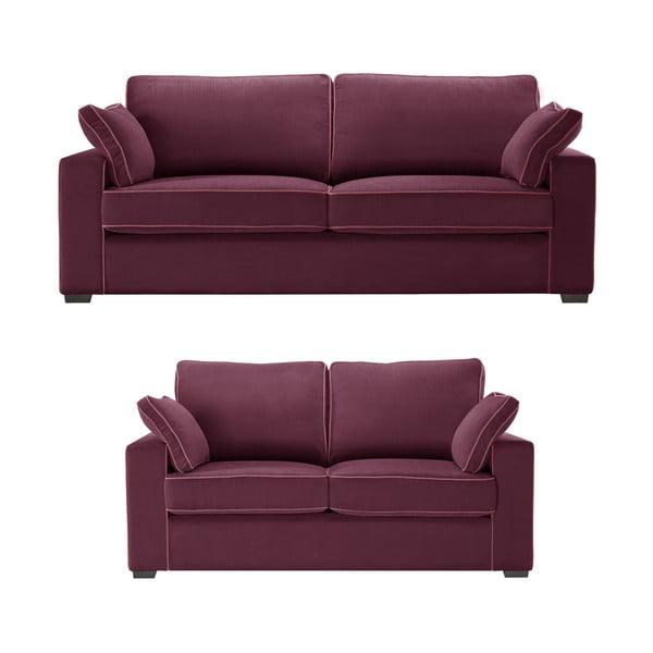 Dvoudílná sedací souprava Jalouse Maison Serena, vínová
