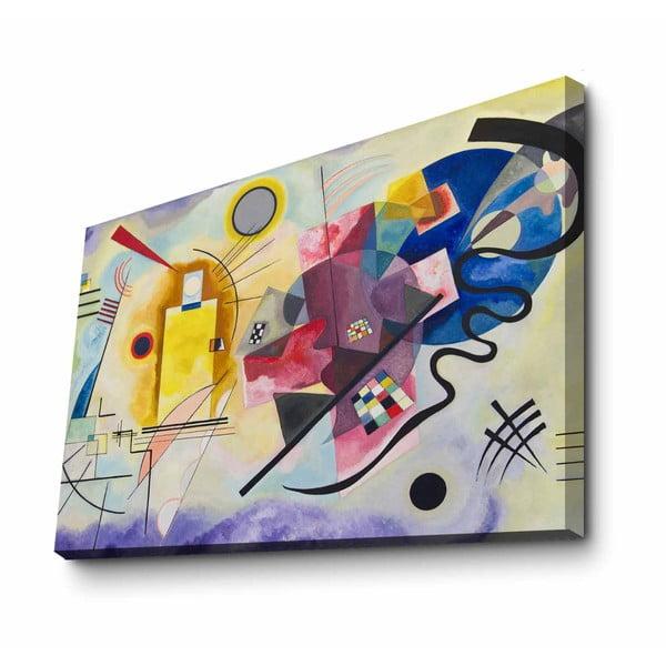 Fali vászon kép Kandinsky Blue másolat, 100 x 70 cm