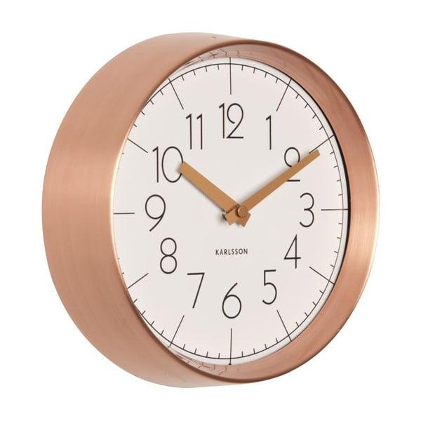Hodiny Convex Copper