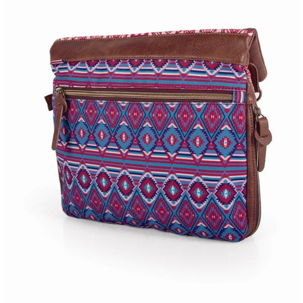 Růžovo-modrá kabelka SKPA-T, 31 x 35 cm