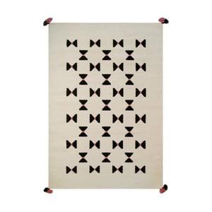 Ručně tkaný vlněný koberec Art For Kids Bow Tie, 110x160cm