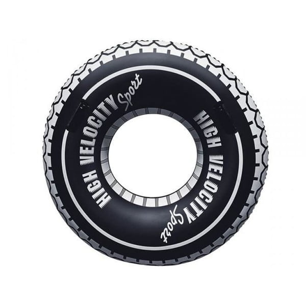 Černý nafukovací kruh Gadgets House Pneumatika, Ø 105 cm