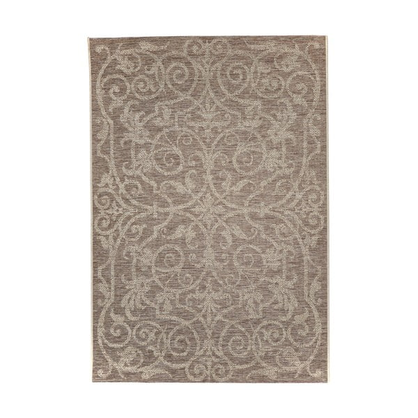 Covor foarte rezistent Floorita Ornament Natural, 135 x 190 cm
