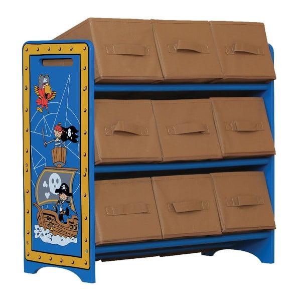 Dětská police s úložnými košíky Pirates