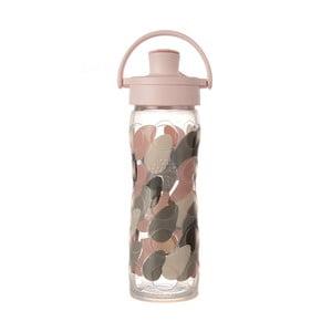 Skleněná lahev na vodu se silikonovým chráničem Lifefactory Blush Activ Premium,475ml