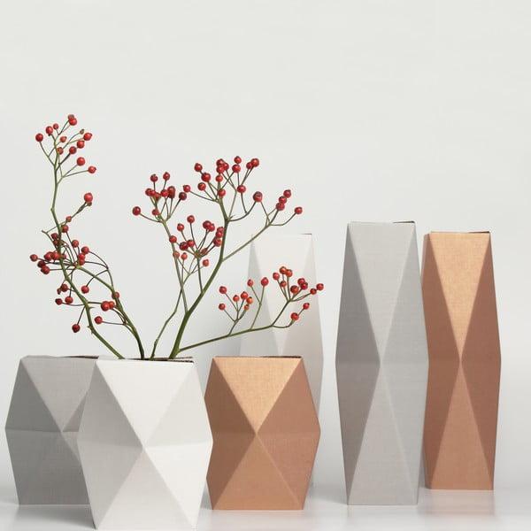 Vysoká kartonová váza, bronzová