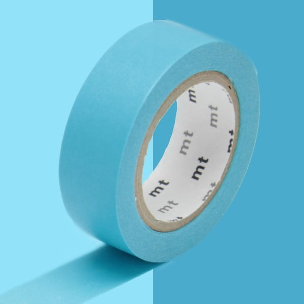 Bandă washi MT Masking Tape Uni, albastru deschis