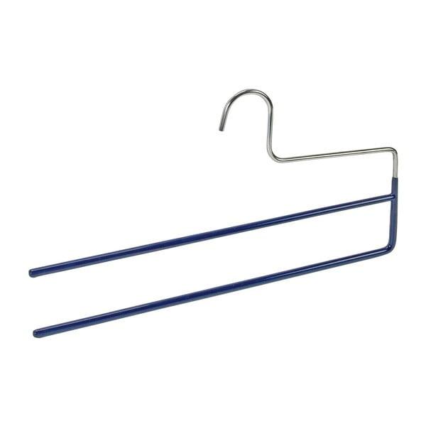 Umeraș antiderapant cu 2 suporturi pentru pantaloni Wenko Hanger Baggy, albastru