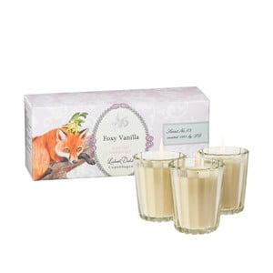 Sada 3 vonných svíček Foxy Vanilla od Lisbeth Dahl