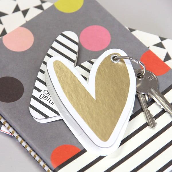 Mini zápisník na klíče Hearts