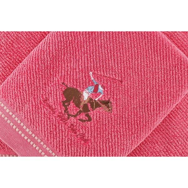 Sada 2 ručníků BHPC 50x100 + 80x150 cm, růžová