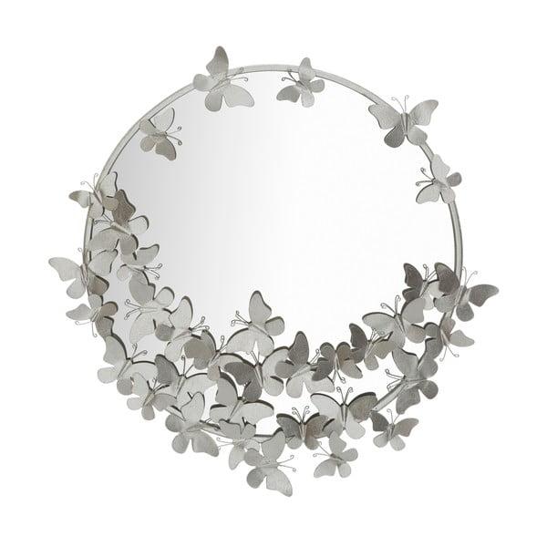 Round Silver ezüstszínű falitükör, ø 74 cm - Mauro Ferretti