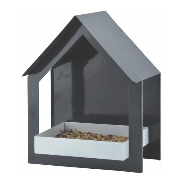 Antracitszürke, fém fali madáretető, magasság 23,2 cm - Esschert Design