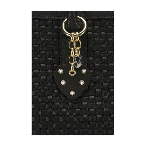 Kožená kabelka Giorgio Costa 15014 Black