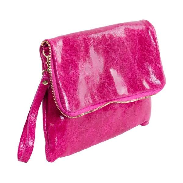Fuchsiová kabelka z pravé kůže Andrea Cardone Maria