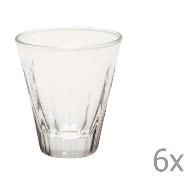 Sada 6 likérek Lucca Transparent, 50 ml