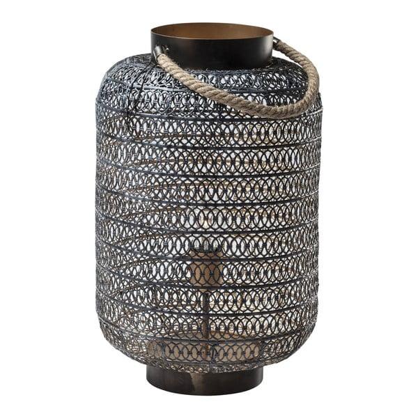 Čierna stojacia lampa Kare Design Sultan, výška 47 cm