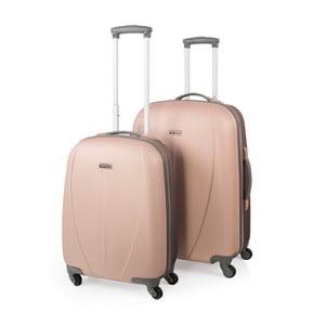 Sada 2 béžových cestovních kufrů na kolečkách Arsamar Wright